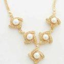 Cadena Collar con Perlas Blancas Zirconitas y Goldfield