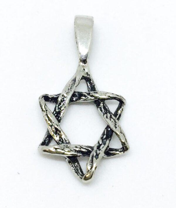 Colgante de Plata Estrella de David entrelazada