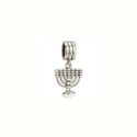 Dije Menorah en Plata, Coleccion Charms de Israel