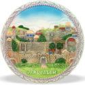 Plato de cerámica panorámica Jerusalem