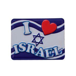 Imán de Plástico I Love Israel