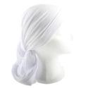 Pañuelo hebreo para la cabeza.- Blanco
