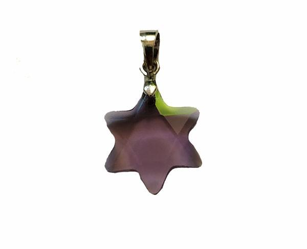 Colgante - Estrella de David (Amatista morada)
