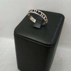 """Precioso anillo calado de plata con """"Ani le Dodi"""""""