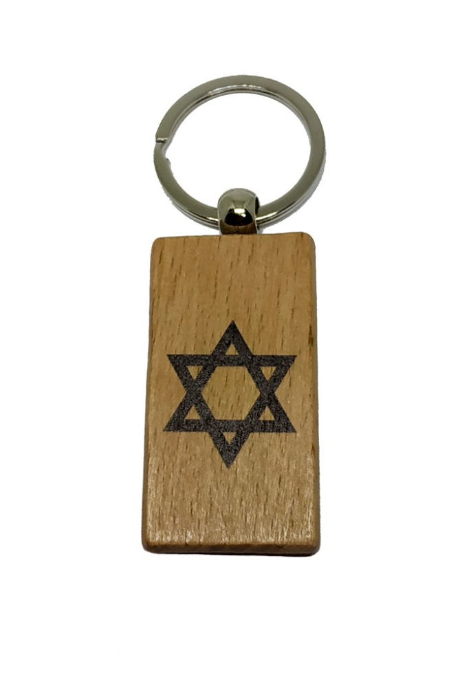 Llaveros de madera rectangulares modelos Israel