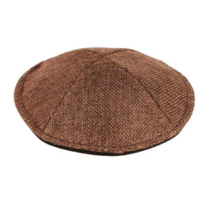 Kippah de tela marrón