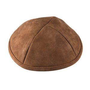 Kippa piel sintética marrón