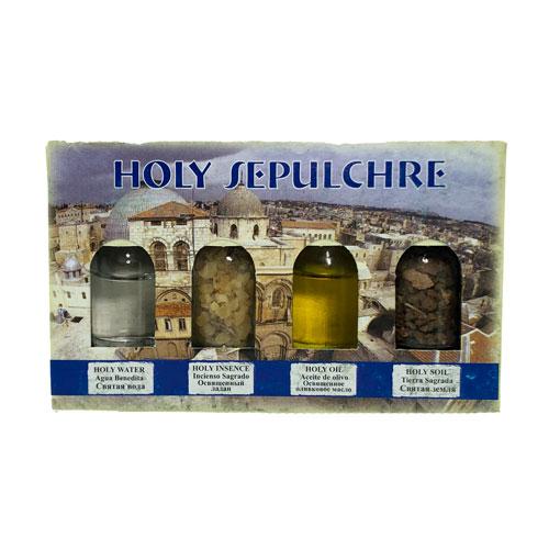 Pack 4 botellas Aceite, Agua, Incienso y Tierra Sagrada Dos Portadas diferentes pero ambos contienen lo mismo